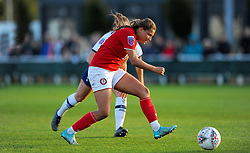 Abi Harrison of Bristol City shoots at goal - Mandatory by-line: Nizaam Jones/JMP - 27/10/2019 - FOOTBALL - Stoke Gifford Stadium - Bristol, England - Bristol City Women v Tottenham Hotspur Women - Barclays FA Women's Super League