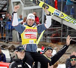 18.03.2012, Planica, Kranjska Gora, SLO, FIS Ski Sprung Weltcup,  im Bild  Sieger Skiflugweltcup Robert Kranjec (SLO),   during the FIS Skijumping Worldcup, at Planica, Kranjska Gora, Slovenia on 2012/03/18. EXPA © 2012, PhotoCredit: EXPA/ Oskar Hoeher.