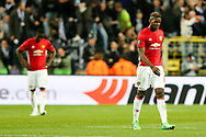 Manchester United's Paul Pogba looks dejected after Anderlecht's Leander Dendoncker scored the equaliser during the Europa League Quarter Final 1st leg match at RSCA Constant Vanden Stock Stadium, Anderlecht, Belgium. Picture date: April 13th, 2017.Pic credit should read: Charlie Forgham-Bailey/Sportimage