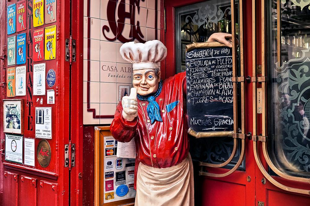 Colorful tapas restaurant, Madrid, Spain