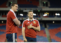 10 June 2013; Jamie Heaslip, right, and Ian Evans, British & Irish Lions, during a stadium visit ahead of their game against Combined Country on Tuesday. British & Irish Lions Tour 2013, Stadium Visit, Hunter Stadium, Newcastle, NSW, Australia. Picture credit: Stephen McCarthy / SPORTSFILE
