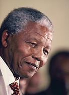 Nelson Mandela visits the US in June 1990<br />Photo by Dennis Brack. bb77