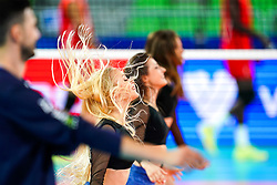 Cheerleaders Ladies during volleyball match between Cuba and Slovenia in Final of FIVB Volleyball Challenger Cup Men, on July 7, 2019 in Arena Stozice, Ljubljana, Slovenia. Photo by Matic Klansek Velej / Sportida