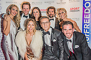 Ollie Proudlock (Made in Chelsea and gang) and his girlfriend Emma Connolly - UK charity, Sport for Freedom (SFF), marks Anti-Slavery Day 2015 by hosting a charity Gala Dinner, supported by Aston Martin, on Thursday 15th October at Stamford Bridge, home of Chelsea Football Club. This inaugural event brought together people from the world of sport, entertainment, media, and business to unite behind a promise to tackle the issue of modern day human trafficking and slavery.  <br /> Hosted by Sky presenters Sarah-Jane Mee and Jim White, the Sport for Freedom Gala Dinner includes guests such as jockey AP McCoy OBE; Denise Lewis, former British Olympic Gold Medal winner; BBC Strictly star, Brendan Cole; Al Bangura, former Watford FC player and Sport for Freedom Ambassador who was trafficked from Africa to the UK at the age of just 14yrs old; Made in Chelsea star, Ollie Proudlock; ITV weather presenter, Lucy Verasamy; Sky Sports F1 presenter and SFF Ambassador, Natalie Pinkham; Premier League footballers Ryan Bertrand of Southampton FC and Troy Deeney of Watford FC and champion boxer, Anthony Joshua; and The UK's first independent Anti Slavery Commissioner, Kevin Hyland OBE, who highlighted the issues of modern day slavery that face the UK and world today. <br /> The evening concluded with chart topping music from 'Naughty Boy'. <br /> Sport for Freedom are also joining forces with the Premier League Academies for an international  'Football for Freedom' tournament with their U16's players that will also involve educating those taking part about the issues surrounding modern day slavery. The final will take place at Liverpool FC's Academy on Anti-Slavery Day, 18th October.