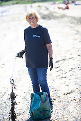 15JUL21 Lesley Anderson. The Marine Conservation Society launching it's big beach clean up volunteer call at Cramond beach this morning.