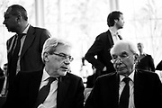 Claudio De Vincenti and Giuliano Amato during the presentation of a project for the  economic development of Southern Italy. Rome 16 March 2017. Christian Mantuano / OneShot
