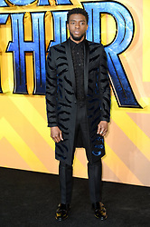 Chadwick Boseman attending the European premiere of Marvel Studios' Black Panther, held at the Eventim Hammersmith Apollo, London. Photo credit should read: Doug Peters/EMPICS Entertainment