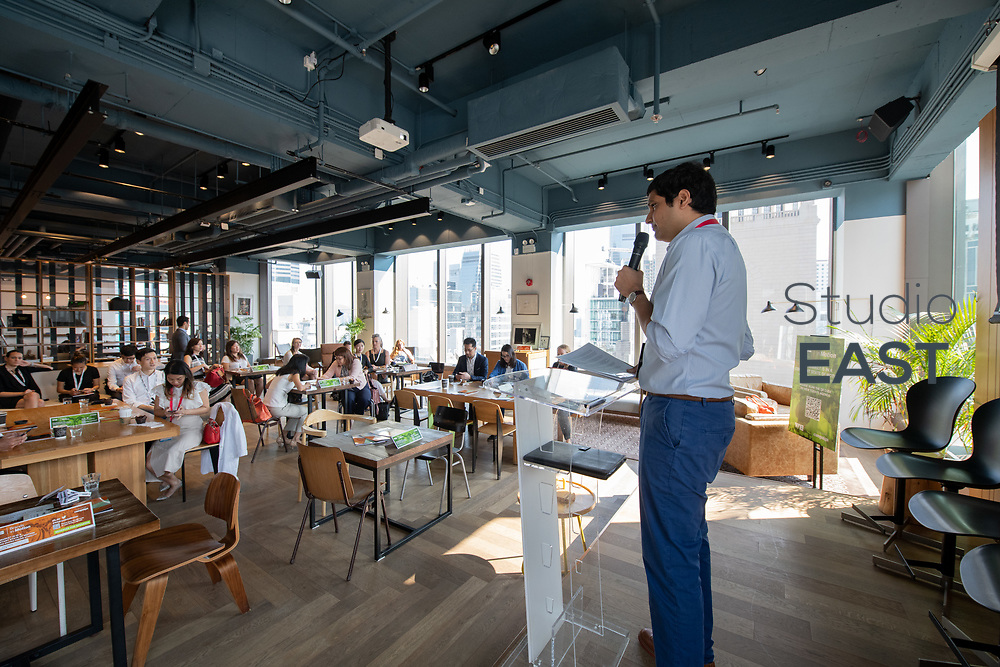 Opening remarks by Faaez Samadi, Southeast Asia Editor, Campaign Asia-Pacific, during Brands in Motion Breakfast Briefing in Hong Kong, China, on 21 September 2018. Photo by Lucas Schifres/Studio EAST