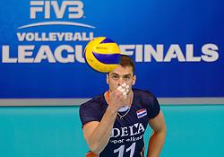 20150619 NED: World League Nederland - Portugal, Groningen<br /> De Nederlandse volleyballers hebben in de World League ook hun eerste duel met Portugal met 3-0 gewonnen / Dick Kooy #11