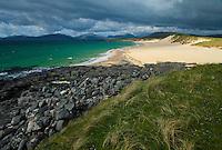 Playa de Scarista Beach. Sound of Taransay. South Harris Island. Outer Hebrides. Scotland, UK