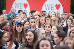 June 4, 2017 - Trafford, United Kingdom - People arrive for the One Love Manchester benefit concert at the Old Trafford cricket ground in Trafford, United Kingdom, Sunday, June 04, 2017. The One Love Benefit concert has been organised as tribute to the victims of the Manchester Arena attack at which Ariana Grande performed at the Manchester Arena on 05/22/2017. (Credit Image: © Jonathan Nicholson/NurPhoto via ZUMA Press)
