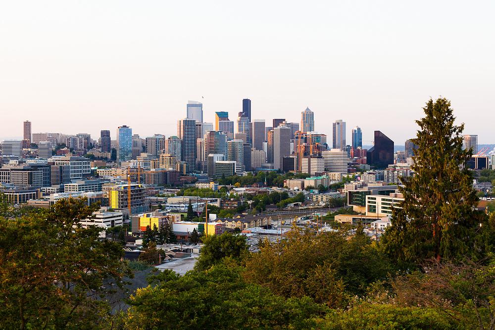 Downtown Seattle at dawn, Washington State, USA