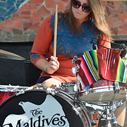 The Maldives perform at the Starbuck's stage at Bumbershoot 2013 in Seattle, WA USA