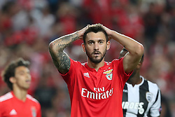 August 21, 2018 - Lisbon, Portugal - Benfica's Argentine forward Facundo Ferreyra reacts during the UEFA Champions League play-off first leg match SL Benfica vs PAOK FC at the Luz Stadium in Lisbon, Portugal on August 21, 2018. (Credit Image: © Pedro Fiuza/NurPhoto via ZUMA Press)