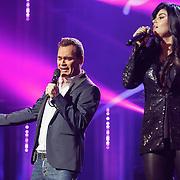 NLD/Amsterdam/20160217 - Holland zingt Hazes 2016, Jeroen van der Boom en Roxanne Hazes