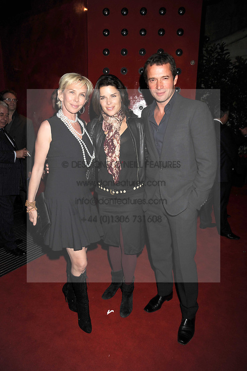 Left to right, TRUDIE STYLER, JAMES PUREFOY and NEVE CAMPBELL at the opening of the Buddha Bar, Victoria Embankment, London on 8th September 2008.<br /> <br /> NON EXCLUSIVE - WORLD RIGHTS