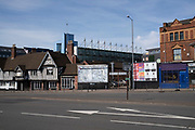 Empty / blank billboards due to a lack of advertising spend have become a common sight under lockdown as seen here in Digbeth on 15th April 2020 in Birmingham, England, United Kingdom. Coronavirus or Covid-19 is a new respiratory illness that has not previously been seen in humans. While much or Europe has been placed into lockdown, the UK government has put in place more stringent rules as part of their long term strategy, and in particular social distancing.