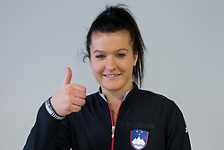 Nastja Kolar during press conference of Team Slovenia before playing in Zone Group 1 of Fed Cup tournament in Budapest on January 29, 2014 in BTC City, Ljubljana, Slovenia. Photo by Vid Ponikvar / Sportida
