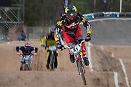 #81 (STROMBERGS Maris) LAT at the 2014 UCI BMX Supercross World Cup in Santiago Del Estero, Argentina.
