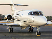 British Aerospace Hawker 800, photographed for Georgia Jet at Briscoe Field (LZU) in Lawrenceville, Georgia.
