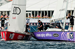Holmberg  defeatingMirsky 2-2 in the petite final - Stena Match Cup Sweden 2010, Marstrand-Sweden. World Match Racing Tour. photo: Loris von Siebenthal - myimage