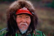 Inupiaq Caribou hunters Robert and Floyd Mulluk, Alaska, USA, Arctic<br /> SWD-002487