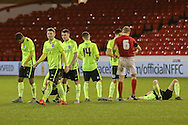 Brighton  lose penalty shoot out during the FA Youth Cup match between U18 Nottingham Forest and U18 Brighton at the City Ground, Nottingham, England on 10 December 2015. Photo by Simon Davies.