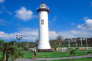 PUERTO RICO, LANDSCAPE lighthouse at Higuero point on the west coast of the island near Rincon