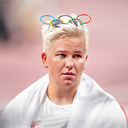 TOKYO, JAPAN August 3:    Gold medal winner Anita Wlodarczyk of Poland after the Women's Hammer Throw Final at the Olympic Stadium during the Tokyo 2020 Summer Olympic Games on August 3rd, 2021 in Tokyo, Japan. (Photo by Tim Clayton/Corbis via Getty Images)