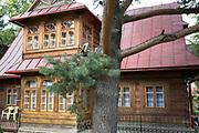 A traditional Polish mountain housing architecture, on 16th September 2019, in Zakopane, Malopolska, Poland.