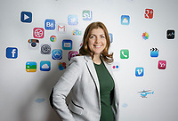 Ally Spinu, chief executive of USA Link System, a digital advertising firm, and the number one company on the Business Journal's list of fastest growing private companies. Shot in Glendale, CA. Nov. 6, 2017.  ©David Sprague 2017