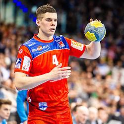 Vladan Lipovina (HBW Balingen-Weilstetten #4) beim Spiel in der Handball Bundesliga, TVB 1898 Stuttgart - HBW Balingen-Weilstetten.<br /> <br /> Foto © PIX-Sportfotos *** Foto ist honorarpflichtig! *** Auf Anfrage in hoeherer Qualitaet/Aufloesung. Belegexemplar erbeten. Veroeffentlichung ausschliesslich fuer journalistisch-publizistische Zwecke. For editorial use only.