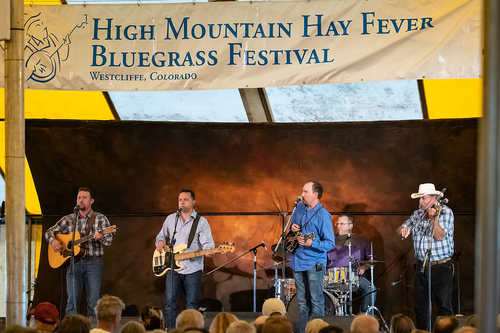 Sons and Brothers entertain the crowd at the 2019 High Mountain Hay Fever Bluegrass Festival.