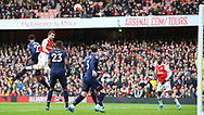 Arsenal's Sokratis Papastathopoulos heads the ball towards goal during the Premier League match at the Emirates Stadium, London. Picture date: 7th March 2020. Picture credit should read: Paul Terry/Sportimage
