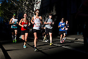 """Pictures taken during the """"2013 Blackmores Sydney Running Festival"""" on the Harbour Bridge, Hickson Road the Rocks,  the Cahill Expressway and Macquarie street."""