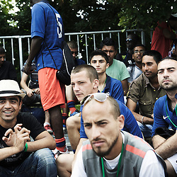 PARIS, FRANCE. AUGUST 23, 2011. The French homeless team at the Homeless World Cup. Photo: Antoine Doyen