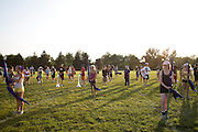 The Oregon Marching Band practices in Columbus, Wisconsin on June 18, 2009.