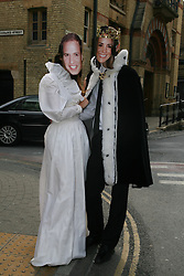 Cambridge, UK  29/04/2011. The Royal Wedding of HRH Prince William to Kate Middleton. Couple dressed as Kate and Will collect money for the Rainbow Trust.  John Ryan as Will and Ellie Couch as Kate. Photo credit should read Jason Patel/LNP. Please see special instructions. © under license to London News Pictures