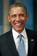 De Amerikaanse president Barack Obama tijdens zijn bezoek aan het Rijksmuseum in Amsterdam. Barack Obama is in Nederland voor de De Nuclear Security Summit 2014 (NSS)<br /> <br /> U.S. President Barack Obama during his visit to the Rijksmuseum in Amsterdam. Barack Obama is in the Netherlands for the 2014 Nuclear Security Summit (NSS)<br /> <br /> Op de foto/ On the photo:  president Barack Obama