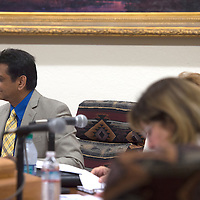 Councilor Yogash Kumar speaks on behalf of the Ordinance No. C2016-9 during the City Council Meeting in Gallup Tuesday.