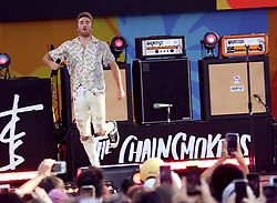 August 10, 2018 - New York City, New York, U.S. - ANDREW TAGGART from 'The Chainsmokers' performs on 'Good Morning America' held in Central Park. (Credit Image: © Nancy Kaszerman via ZUMA Wire)