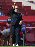 Football - 2021 / 2022 Women's Super League - Arsenal vs Chelsea - Emirates Stadium - Sunday 5th September 2021<br /> <br /> Chelsea FC Women's Manager Emma Hayes shouts instructions to his team from the technical area.<br /> <br /> COLORSPORT/Ashley Western