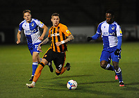 Hull City's Jordy de Wijs breaks through <br /> <br /> Photographer Ian Cook/CameraSport<br /> <br /> The EFL Sky Bet League One - Bristol Rovers v Hull City - Tuesday 27th October 2020 - Memorial Stadium - Bristol<br /> <br /> World Copyright © 2020 CameraSport. All rights reserved. 43 Linden Ave. Countesthorpe. Leicester. England. LE8 5PG - Tel: +44 (0) 116 277 4147 - admin@camerasport.com - www.camerasport.com