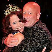 NLD/Nijkerk/20110710 - Miss Nederland verkiezing 2011, Miss Nederland Earth  Jill Duijves met haar vader