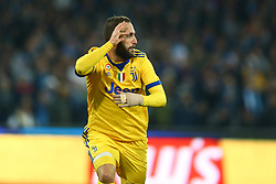 December 1, 2017 - Naples, Italy - Gonzalo Higuain of Juventus celebration after scoring the goal of 0-1 during the Serie A match between SSC Napoli and Juventus at Stadio San Paolo on December 1, 2017 in Naples, Italy. (Credit Image: © Matteo Ciambelli/NurPhoto via ZUMA Press)