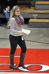 17 October 2015:  Lauren Hutchcraft during an NCAA women's volleyball match between the Southern Illinois Salukis and the Illinois State Redbirds at Redbird Arena in Normal IL (Photo by Alan Look)