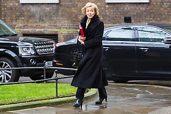 London - Leader of the House of Commons Andrea Leadsom attends the weekly meting of the UK cabinet at Downing Street. January 23 2018.
