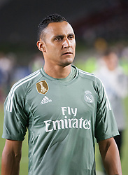 July 26, 2017 - Los Angeles, California, U.S - Keylor Navas #1 of Real Madrid during their International Champions Cup game with Manchester City at the Los Angeles Memorial Coliseum in Los Angeles, California on Wednesday July 26, 2017. Manchester City defeats Real Madrid, 4-1. (Credit Image: © Prensa Internacional via ZUMA Wire)