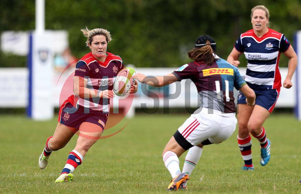 Marlie Packer of Bristol Ladies runs with the ball - Mandatory by-line: Robbie Stephenson/JMP - 18/09/2016 - RUGBY - Cleve RFC - Bristol, England - Bristol Ladies Rugby v Aylesford Bulls Ladies - RFU Women's Premiership