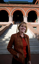 Jill Keimach, the new city manager in Alameda, Calif., poses for a photograph at City Hall, Monday, March 14, 2016. Keimach was formerly the city manager in nearby Moraga, Calif. (D. Ross Cameron/Bay Area News Group)